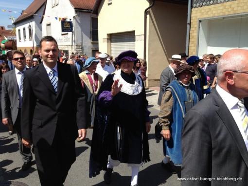 1.000 Jahre Bischberg Festzug - der 2. Bürgermeister Robert Schmitt